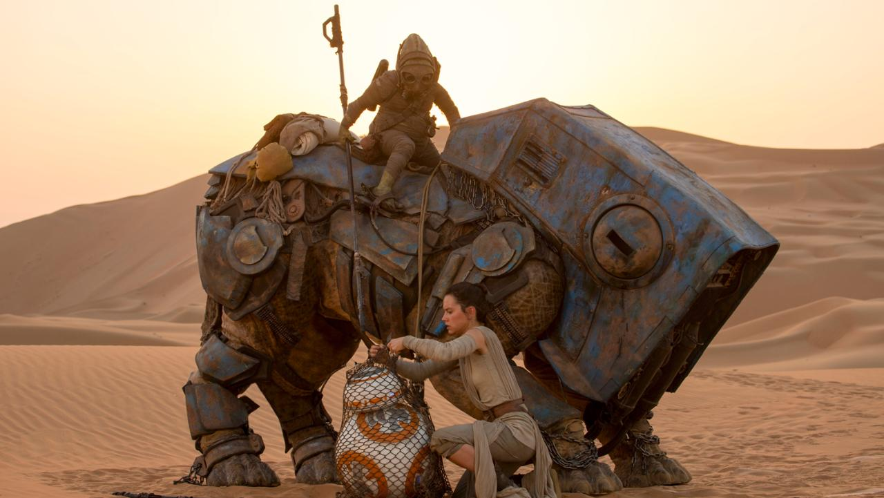 Rey (Daisy Ridley) in Star Wars: The Force Awakens