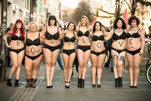 silvana denker photographs women walking around Berlin in their underwear to promote #BodyLove