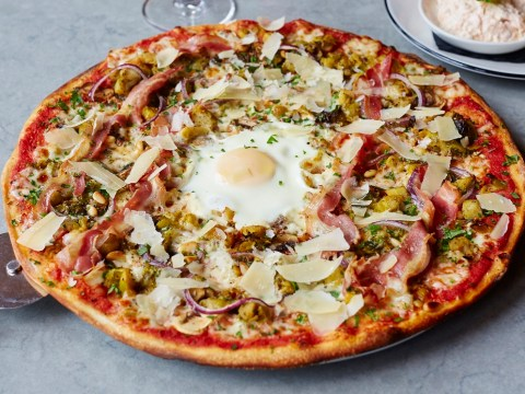 Brussels sprouts on a pizza. Would you? Could you?