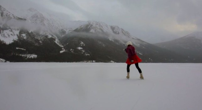 winter wanderlust ice skating in the yukon mountains