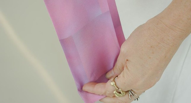 woman uses photos of her vagina to create her scarf