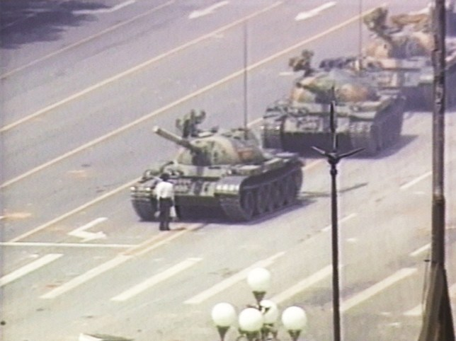 The iconic image from Tiananmen Square (Picture: Getty Images)