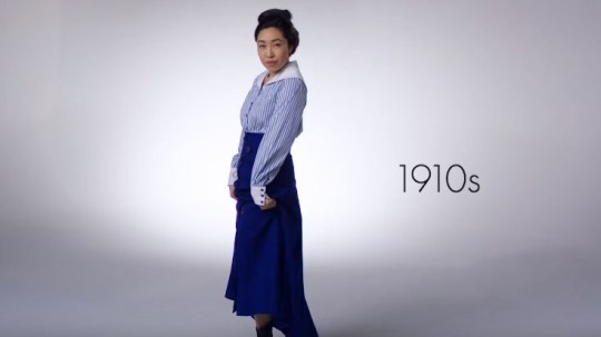 Cassey Ho shows what women have worn to the gym over 100 years in