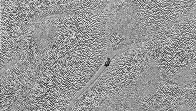 Is this a SNAIL on Pluto? Credit: NASA/JHUAPL/SwRI