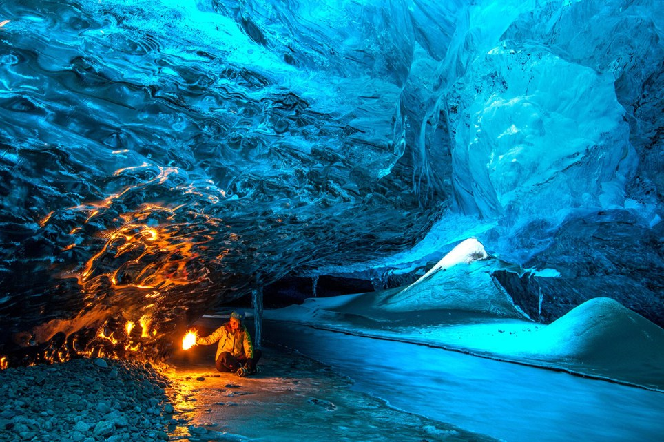 PIC FROM HELEN BJOORNSDOTTIR / CATERS NEWS - (PICTURED: The incredible stunning ice caves ) - Its a cave new world! One of Icelands leading ice cave guides has released a series of stunning images revealing the incredible changing landscapes of one of the worlds most beautiful countries. Helen Bjrnsdttir works as an ice cave expert - assessing the safety of the caves before leading tourists inside - but also takes photographs herself. Now, she has released these images of the caves - that never look the same two days in a row. Helen, who is from Reykjavik, said: What attracts me to ice caves are how unique they are, the feeling to enter the glacier and being surrounded by the glacier ice is an amazing feeling. SEE CATERS COPY.