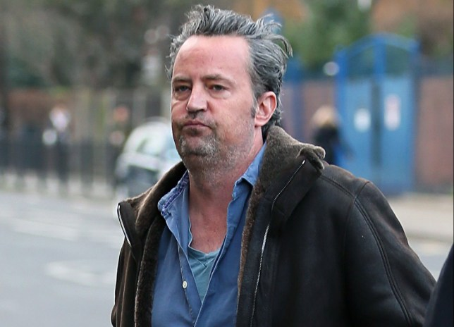 "EXCLUSIVE: Matthew Perry is spotted visiting an eye hospital in Central London. Matthew, famed for his role as Chandler Bing in the astronomically successful series ""Friends"", looked a far cry from his lean, clean shaven self of yesteryears. Matthew popped by the Moorfields Eye Hospital in London to grab his perscription of Lubristil, a lubricating eye gel for the management of dry eye conditions. Photos taken on January 6th 2016 Pictured: Matthew Perry Ref: SPL1200001 070116 EXCLUSIVE Picture by: JJenkins/Splash News Splash News and Pictures Los Angeles: 310-821-2666 New York: 212-619-2666 London: 870-934-2666 photodesk@splashnews.com"