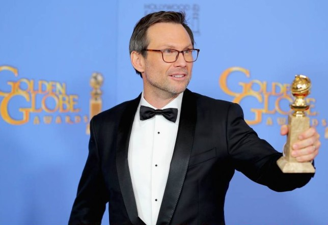 BEVERLY HILLS, CA - JANUARY 10: Actor Christian Slater, winner of Best Supporting Performance in a Series, Miniseries or Television Film for 'Mr. Robot,' poses in the press room during the 73rd Annual Golden Globe Awards held at the Beverly Hilton Hotel on January 10, 2016 in Beverly Hills, California. (Photo by Mark Davis/Getty Images)