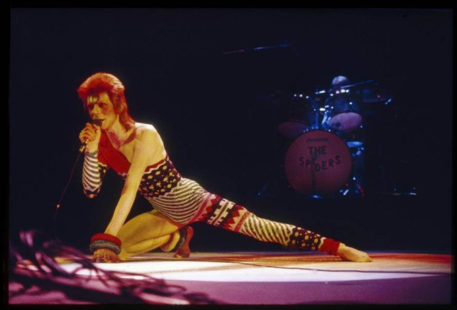 Mandatory Credit: Photo by Ilpo Musto/REX/Shutterstock (1430272k).. David Bowie in concert at the Hammersmith Odeon, London, Britain.. Various.. ..