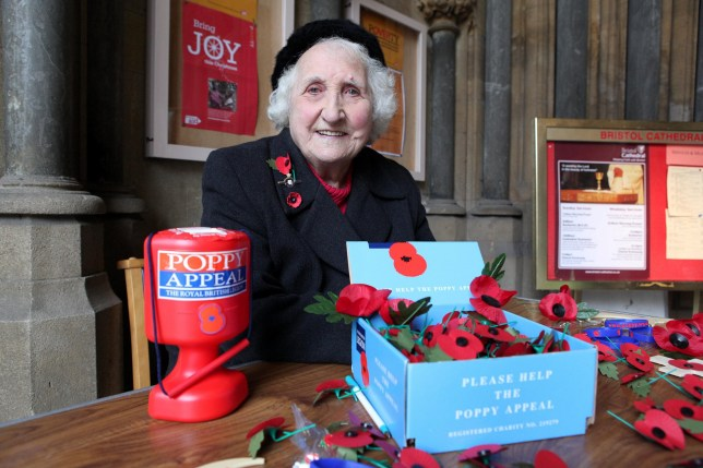 Olive Cooke pictured collecting for the Royal British Legion.(file photo).A scathing report has laid bare the shocking tactics used by charities who plagued poppy seller Olive Cooke - including 70 who bought or traded her personal details. See swns story SWCHARITY. Tragic Olive, 92, was on the hit-list of 99 charities - Britain's oldest and longest-serving poppy seller and stood outside Bristol Cathedral selling the emblems for the bulk of her 76 years of fundraising. But she took her own life last year after receiving repeated requests from charities and feeling low due to a decline in her health. Her death sparked hundreds of complaints about 'hounding' by charities, with particular concerns around those that shared donors' contact details. A report into her case by the Fundraising Standards Board was released (Weds 20th Jan) and has revealed 99 charities had the great-grandmother's details on file. Some 70 per cent of these got them from a third party - 43 from fellow charities or their lists, and 26 from list brokers and commercial data suppliers. The investigation by the regulator also revealed between 2000 and 2014 the number of requests she received for donations tripled to more than 460-a-year at its peak last year - but could have been SIX times higher than this. Her details were also held on donor lists held by 22 commercial data suppliers, according to the report. And only 14 of the 99 charities who contacted her offered her the opportunity to opt out in every letter, it said.
