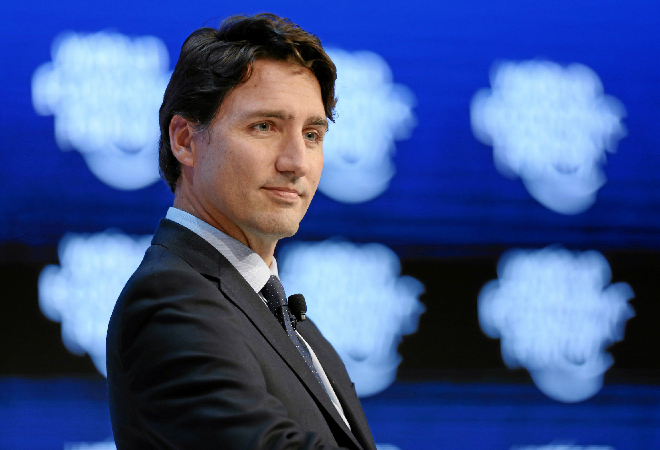 Mandatory Credit: Photo by Action Press/REX/Shutterstock (5550467l) Justin Trudeau - The Canadian Opportunity World Economic Forum, Davos, Switzerland - 20 Jan 2016