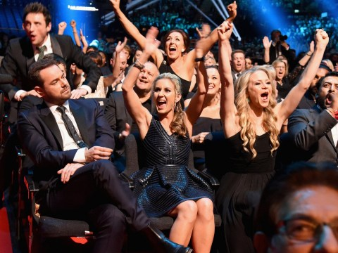 No winner's face in the history of winner's faces has anything on Danny Dyer when he won his National Television Award