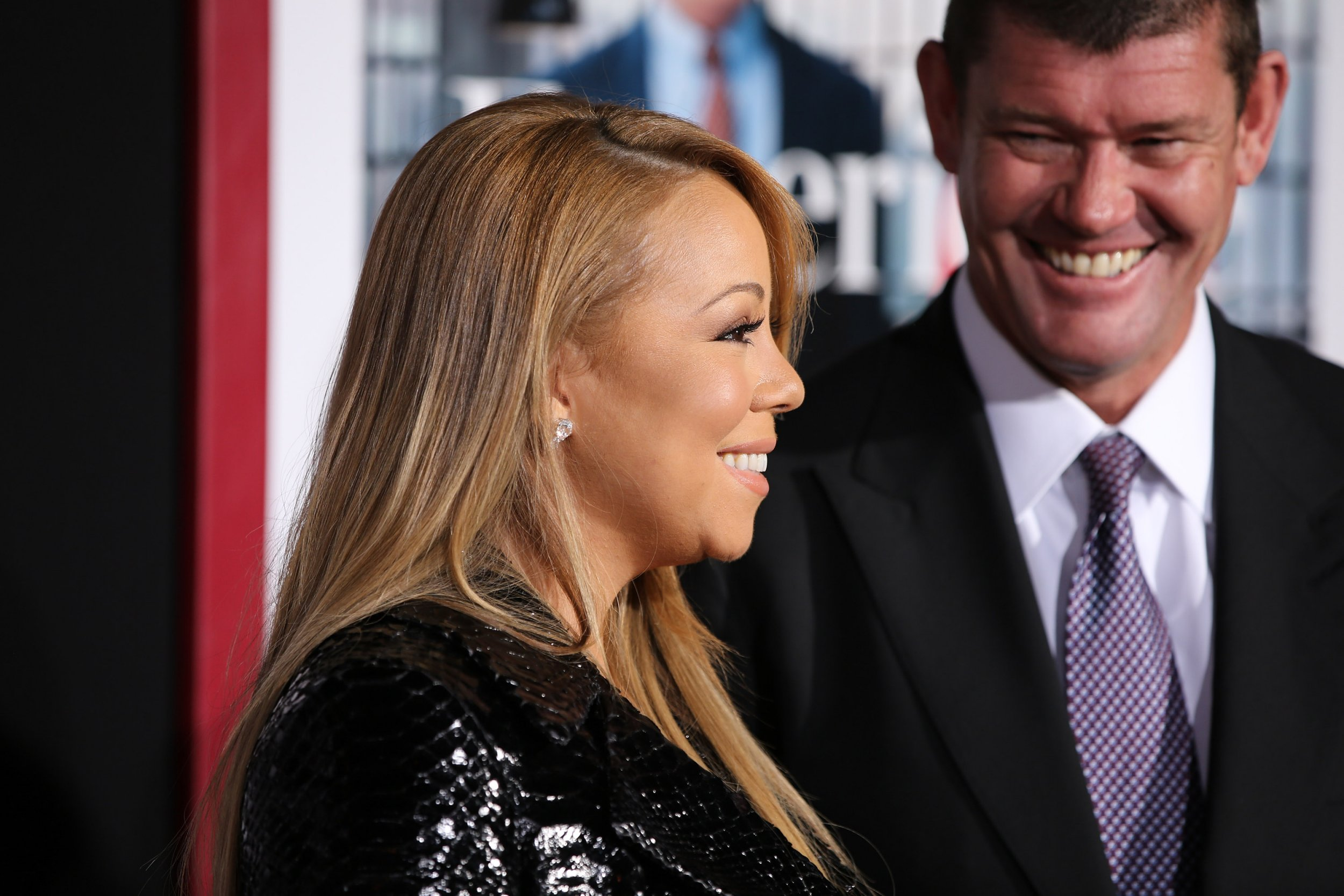 FILE - JANUARY 21: Singer Mariah Carey and Australian businessman James Packer are engaged. NEW YORK, NY - SEPTEMBER 21: Mariah Carey and James Packer attend 'The Intern' New York Premiere at Ziegfeld Theater on September 21, 2015 in New York City. (Photo by Neilson Barnard/FilmMagic)