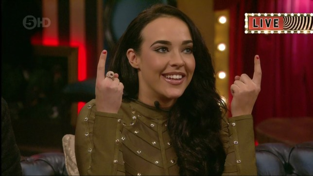 Stephanie Davis awaits the result of the night's eviction on 'Celebrity Big Brother'. Broadcast on Channel 5 HD. Featuring: Stephanie Davis Where: United Kingdom When: 22 Jan 2016 Credit: Supplied by WENN **WENN does not claim any ownership including but not limited to Copyright, License in attached material. Fees charged by WENN are for WENN's services only, do not, nor are they intended to, convey to the user any ownership of Copyright, License in material. By publishing this material you expressly agree to indemnify, to hold WENN, its directors, shareholders, employees harmless from any loss, claims, damages, demands, expenses (including legal fees), any causes of action, allegation against WENN arising out of, connected in any way with publication of the material.**