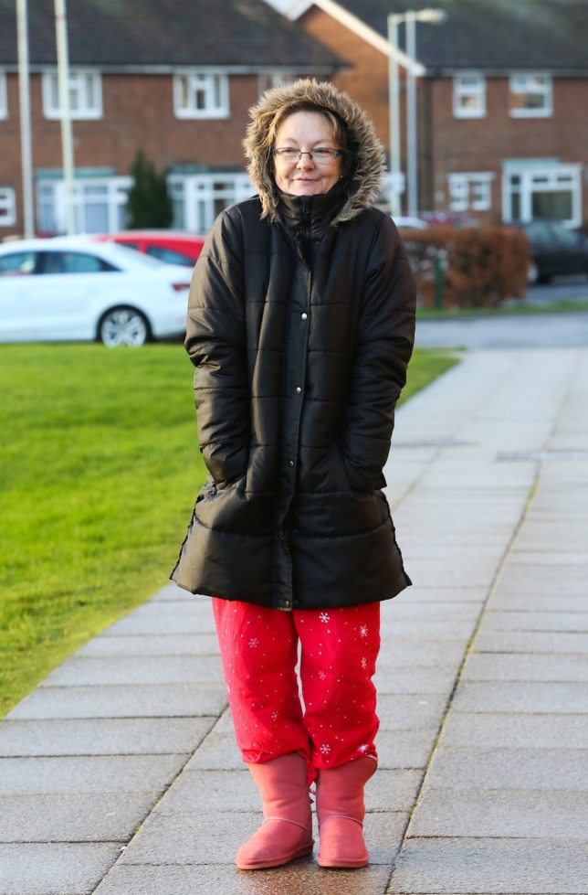 Karen Routh, 49, mother of pupil Holly, 8, wore pjyjamas to school today after she was running late due to feeling unwell, she doesn't see a problem with wearing pyjamas to school in an emergency, at Skerne Park Primary School in Darlington whose head teacher, Katie Chisholm, sent parents a letter home about wearing pyjamas to pick up their children from school. See Ross Parry Copy RPYPJ A headteacher has written to parents asking them to stop wearing PYJAMAS on the school run. Head Kate Chisholm has written to parents and carers of kids at Skerne Park Primary School in Darlington, County Durham, saying she has: noticed an increasing tendency for parents to escort children while still wearing their pyjamas and, on occasion, even slippers. The teacher requests that parents take the time to dress appropriately in day wear which is suitable for the weather conditions.which is suitable for the weather conditions.