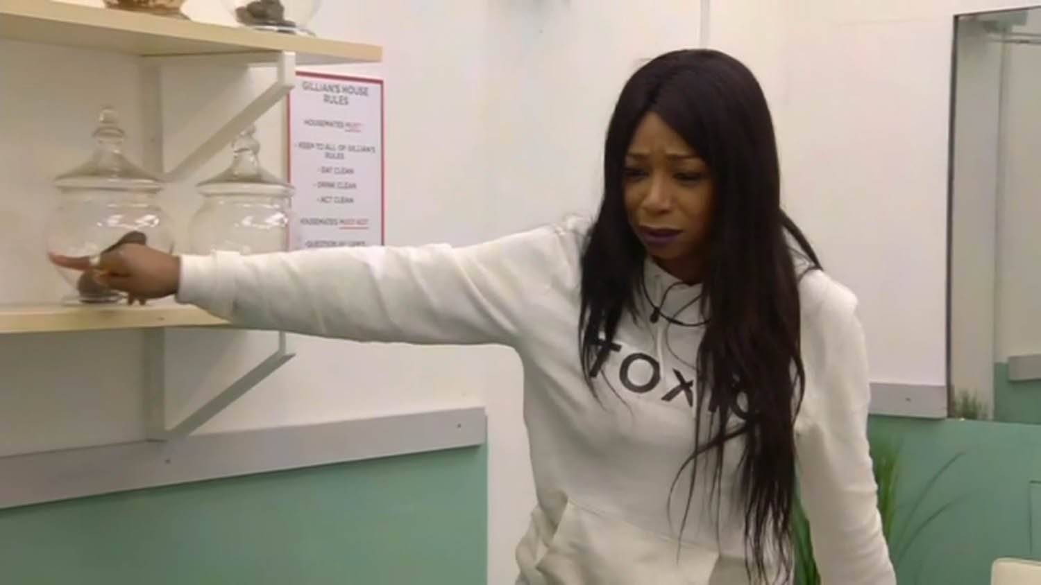 ` ****Ruckas Videograbs**** (01322) 861777 *IMPORTANT* Please credit Channel 5 for this picture. 28/01/16 Celebrity Big Brother DAY 24 SEEN HERE: Tiffany Pollard loses her cool and goes on a rant after Gillian McKeith analyses her poo sample, blaming the rest of her housemates for her stress resulting in her stools to be criticised, last night Grabs from overnight in the CBB house Office (UK) : 01322 861777 Mobile (UK) : 07742 164 106 **IMPORTANT - PLEASE READ** The video grabs supplied by Ruckas Pictures always remain the copyright of the programme makers, we provide a service to purely capture and supply the images to the client, securing the copyright of the images will always remain the responsibility of the publisher at all times. Standard terms, conditions & minimum fees apply to our videograbs unless varied by agreement prior to publication.