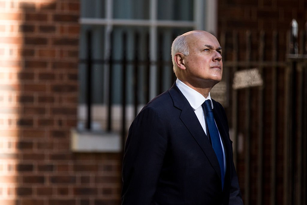 LONDON, ENGLAND - JUNE 30: Iain Duncan Smith, Secretary of State for Work and Pensions arrives at Downing Street on June 30, 2015 in London, England. Prime Minister David Cameron will chair a meeting of Government cabinet members this morning. (Photo by Rob Stothard/Getty Images)