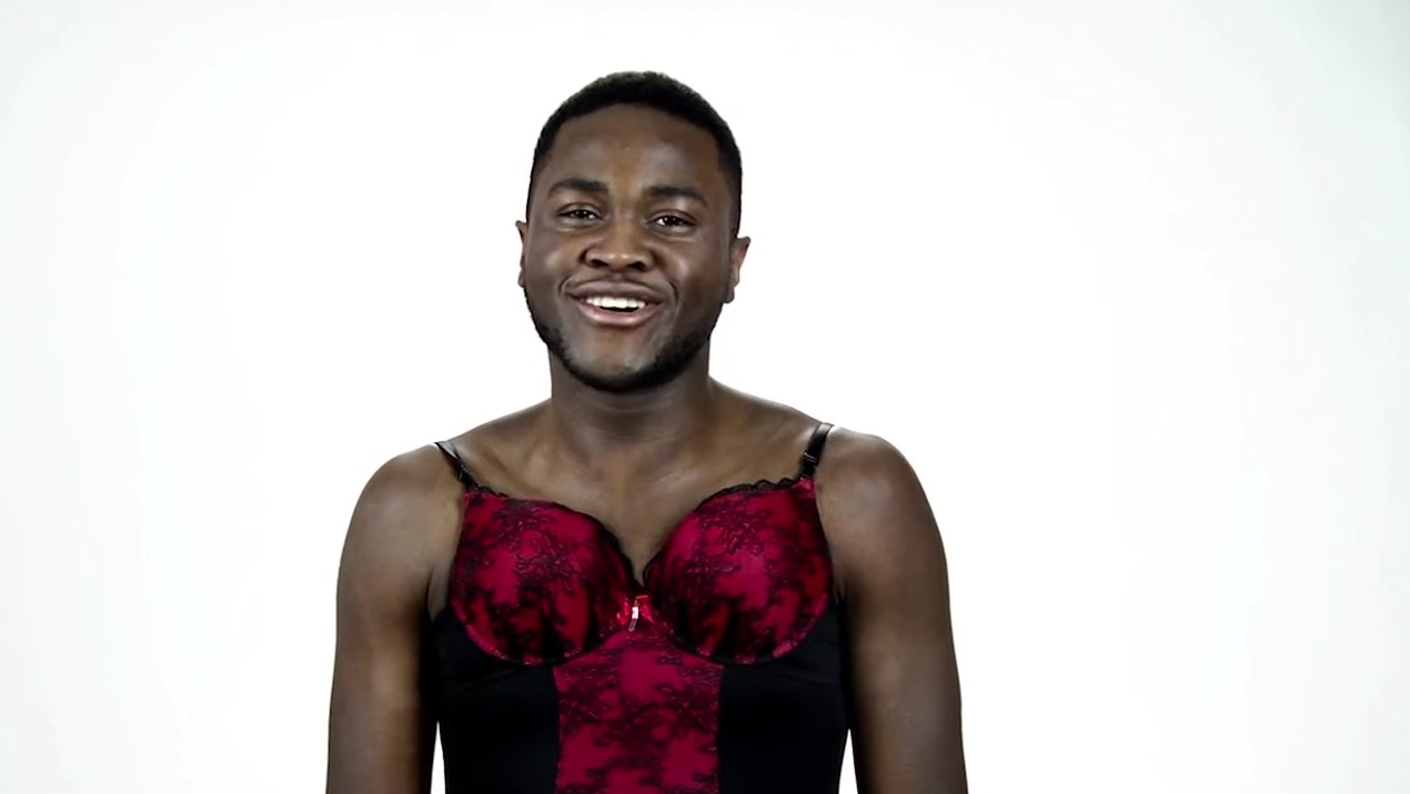 Men try women's 'sexy' lingerie and finally understand the struggle