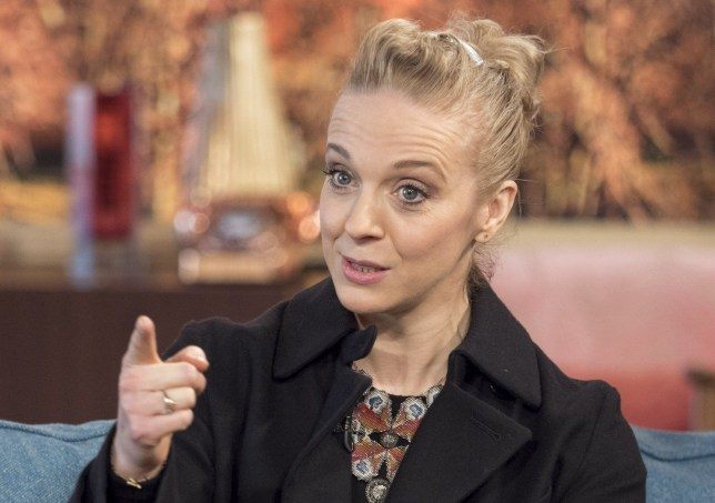 EDITORIAL USE ONLY. NO MERCHANDISING Mandatory Credit: Photo by Ken McKay/ITV/REX/Shutterstock (5572879ce) Amanda Abbington 'This Morning' TV show, London, Britain - 28 Jan 2016 Amanda Abbington tells us about returning to Mr Selfridge.