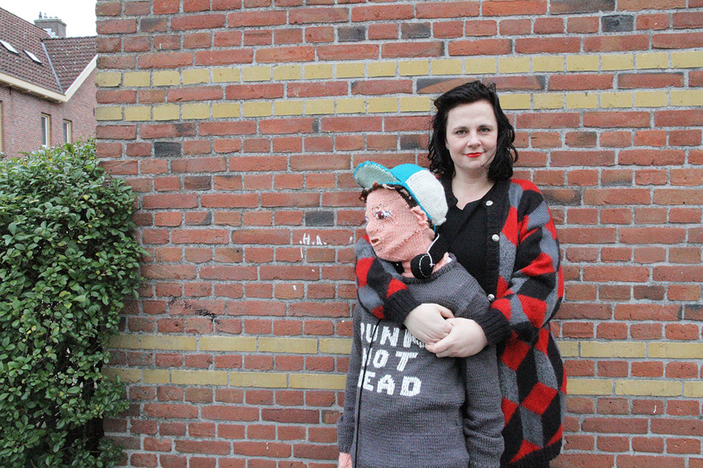 A woman knitted a life-size replica of her teenage son because he wouldn't hug her anymore Credit: Club Geluk