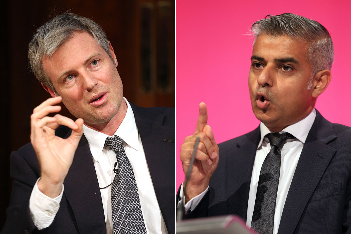 Zac Goldsmith accuses Sadiq Khan of 'playing the race card' in London mayoral election row