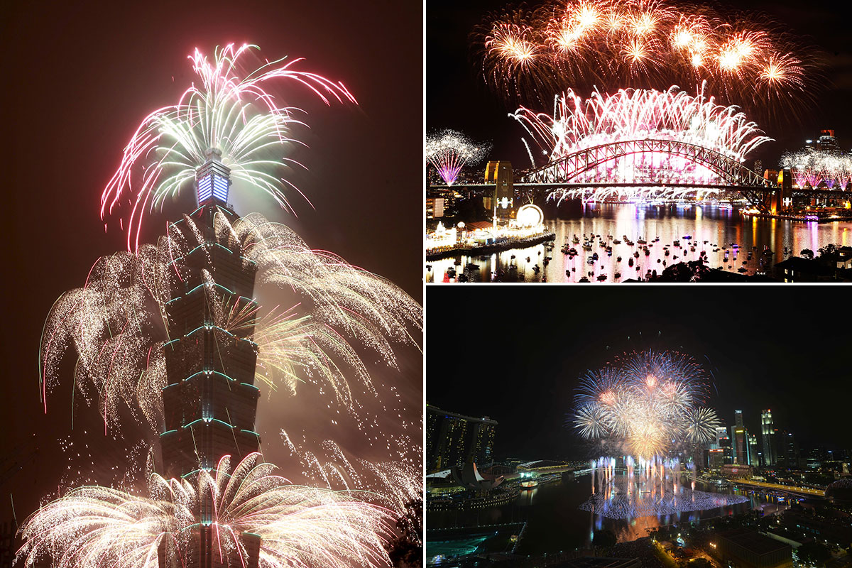 Here's how New Year's Eve was celebrated around the world