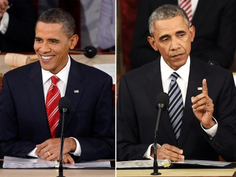 See how Barack Obama has changed over his presidency