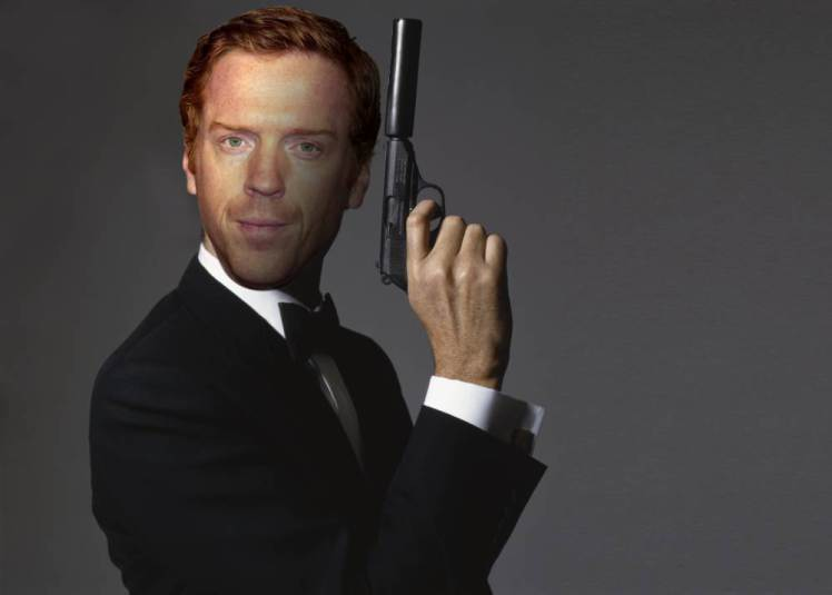 Damien Lewis mocked up as James Bond pose from the fi;m 'GoldenEye', 1995. (Photo by Terry O'Neill/Getty Images)