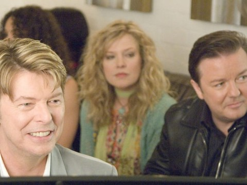 Remember that time David Bowie mocked Ricky Gervais' 'fat face' on Extras?
