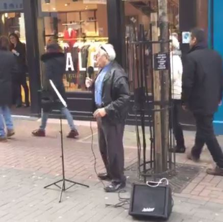 Hilarious clip shows elderly busker covering Stormzy track Shut Up