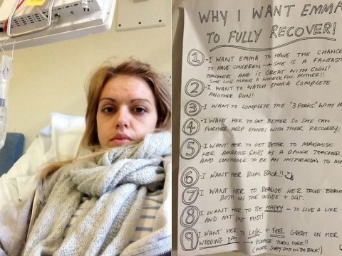Anorexic woman says boyfriend 'saved her life' with his list of reasons she had to get better