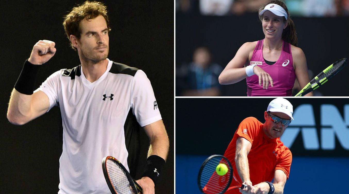 Andy Murray, Johanna Konta and Jamie Murray leading British success at Australian Open 2016