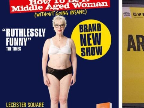 Jenny Eclair makes an excellent point after learning her tour poster might be banned for 'nudity'