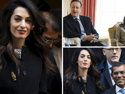 Amal Clooney meets David Cameron to discuss jailed Maldivian president