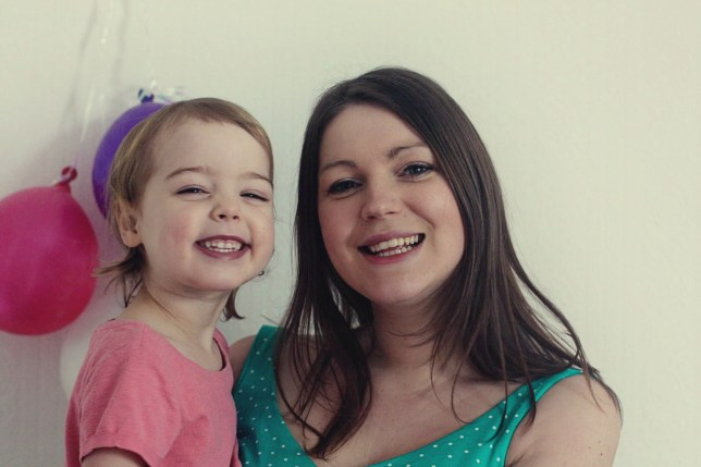 Mummy blogger Fiona Peacock, 29, from Romiley, Stockport, is raising her daughter vegan from birth (Picture: Fiona Peacock)