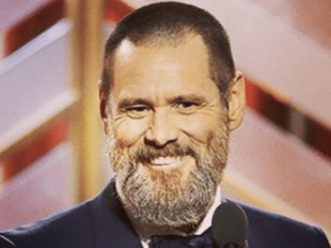 Jim Carrey's beard stole the show at the Golden Globes
