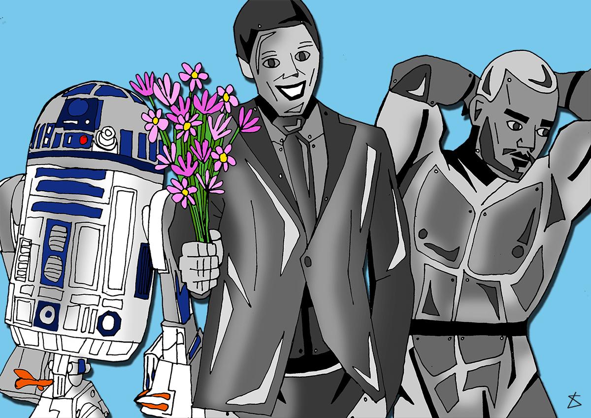 Liberty robot boyfriends illustration