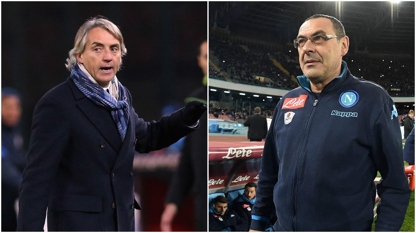 Roberto Mancini calls Napoli boss Maurizio Sarri a racist homophobe in furious post-match interview
