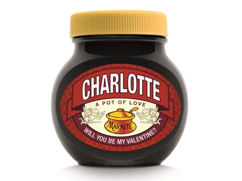 Here's how to declare your love on Valentine's Day with sexy personalised Marmite