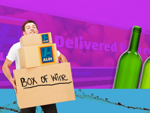 Aldi will now deliver cheap AF cases of wine to your door