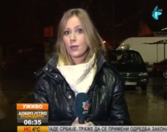 The network was shooting a live broadcast at the time (Picture: YouTube/Viral)