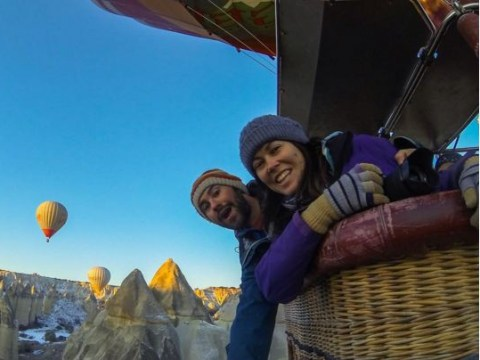 Couple that packed up their lives to travel the world admit their relationship isn't as perfect as it seems
