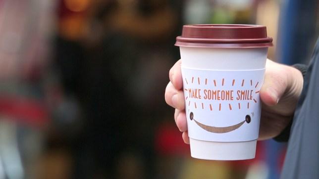 Pret Make Someone Smile coffee sleeve