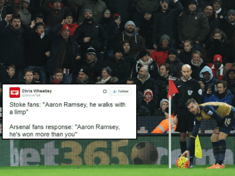 Arsenal fans had perfect response to Stoke City's Aaron Ramsey song