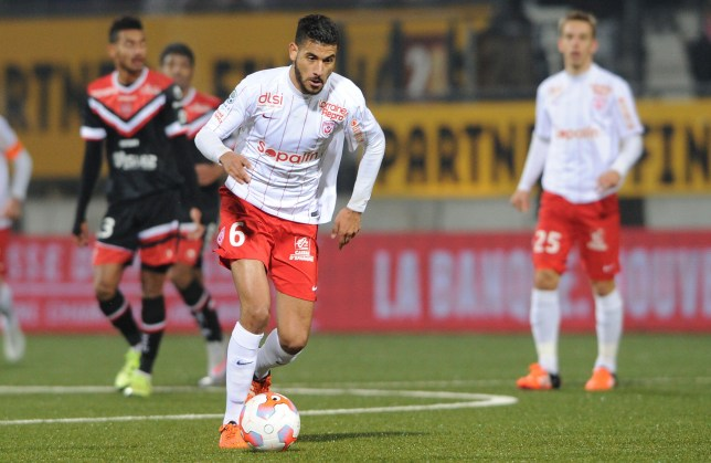 Mandatory Credit: Photo by MARC ANTOINE/LA SEMAINE/SIPA/REX/Shutterstock (5493969d) Nancy's player Youssef Ait Bennasser Nancy vs Valenciennes, French League Two football match, Marcel Picot's Stadium, France - 14 Dec 2015