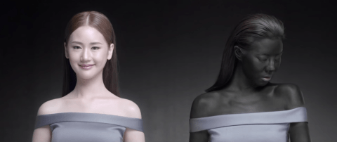 'Racist' advert causes outrage for claiming that 'white makes you a winner'