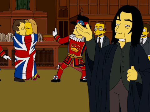 The Simpsons have paid tribute to David Bowie and Alan Rickman in a brilliant way