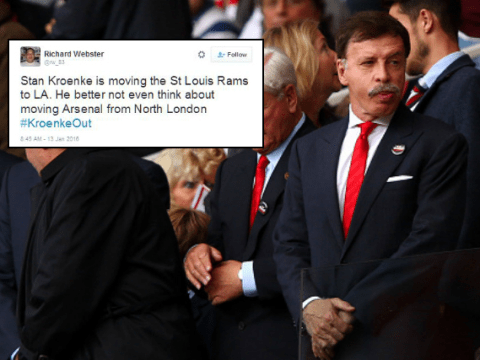 Arsenal fans worried Stan Kroenke could move team out of north London