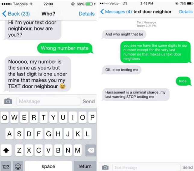 People are texting their 'text door neighbour' and it's not