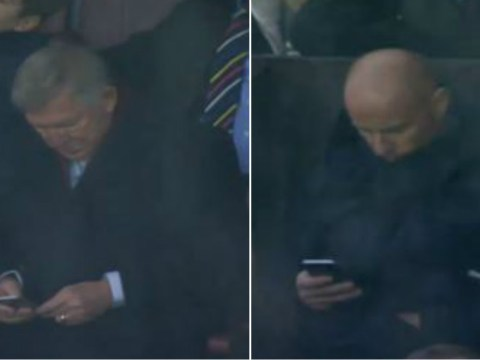 Manchester United legends Sir Alex Ferguson and Nicky Butt spotted on phones at Old Trafford
