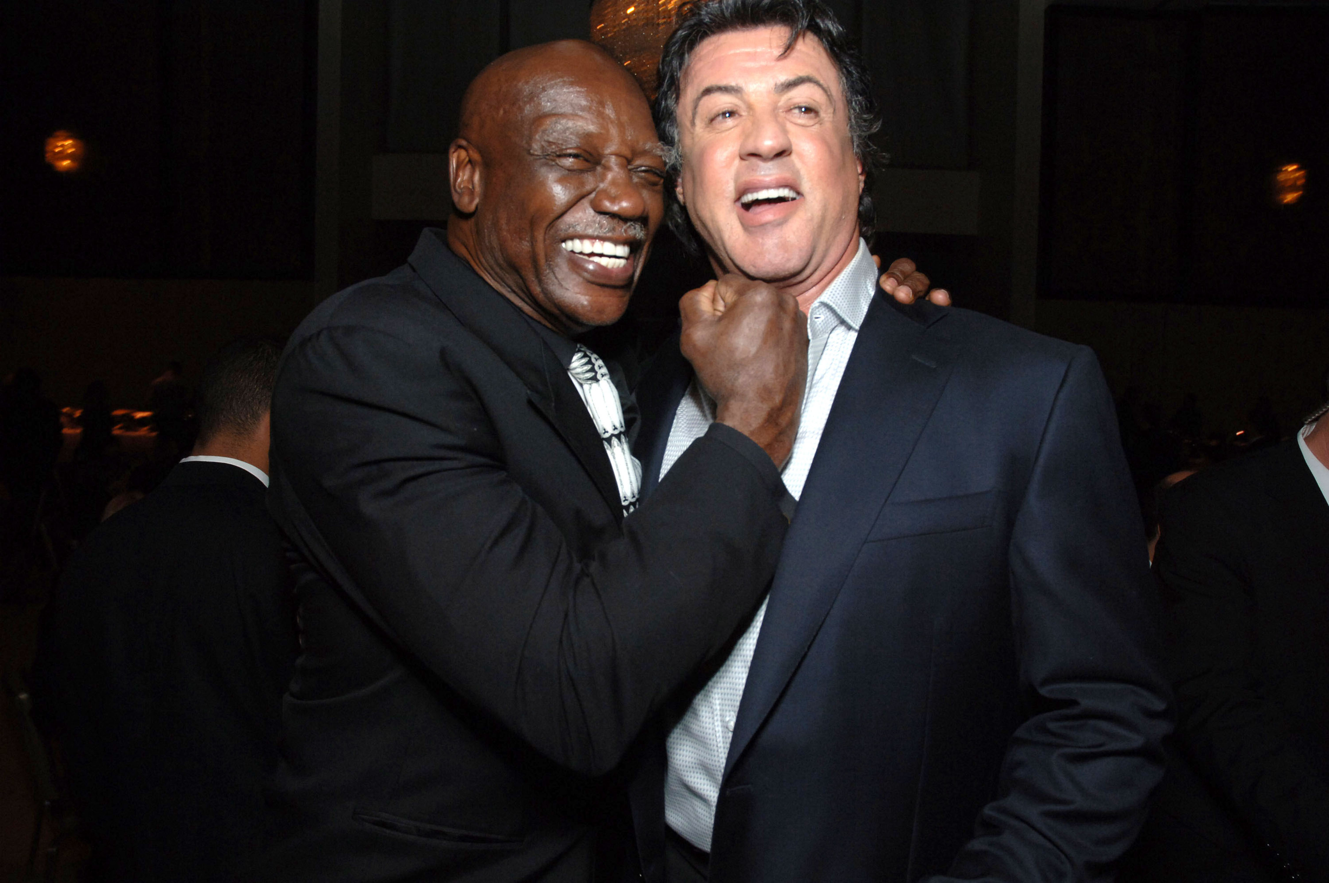 Tony Burton and Sylvester Stallone (Picture: Getty)
